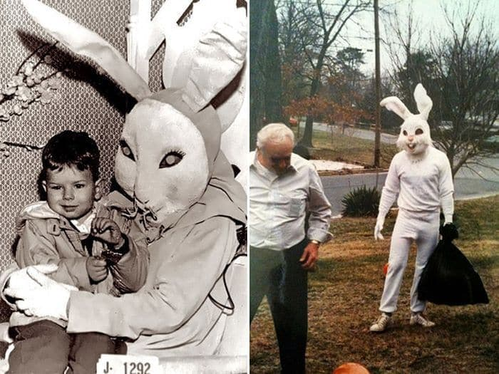 20 Creepy Vintage Easter Bunny Pics Guaranteed To Make You Say WTF
