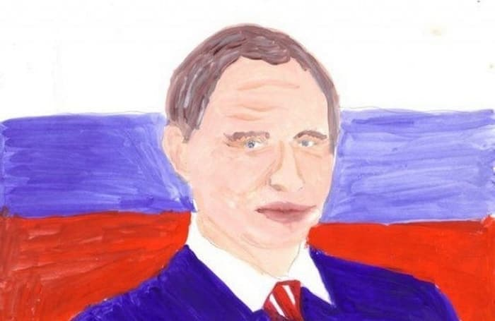 27 Funny Drawings of Putin By Russian Kids Will Make You LOL -01