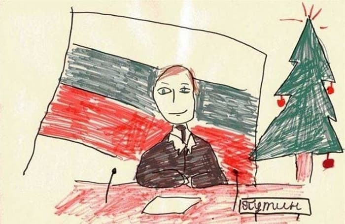 27 Funny Drawings of Putin By Russian Kids Will Make You LOL -10