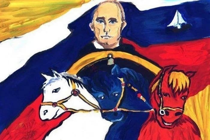 27 Funny Drawings of Putin By Russian Kids Will Make You LOL -11