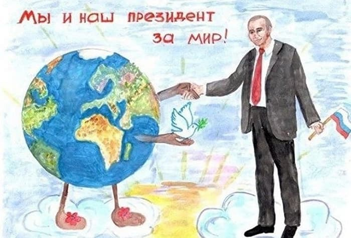 27 Funny Drawings of Putin By Russian Kids Will Make You LOL -15