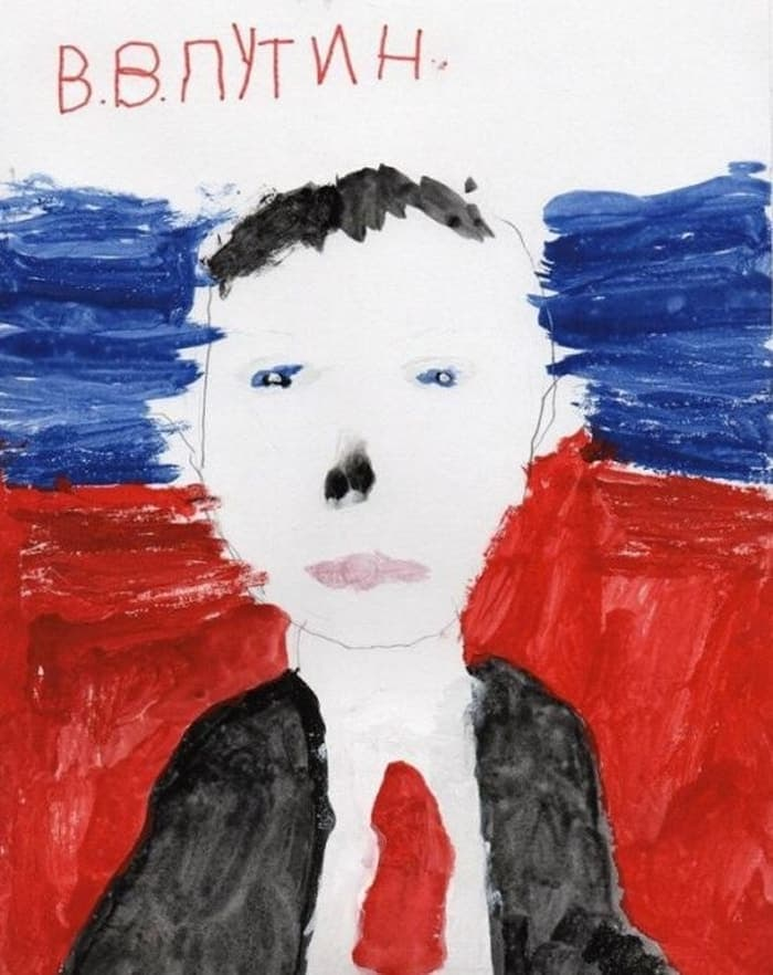 27 Funny Drawings of Putin By Russian Kids Will Make You LOL -19