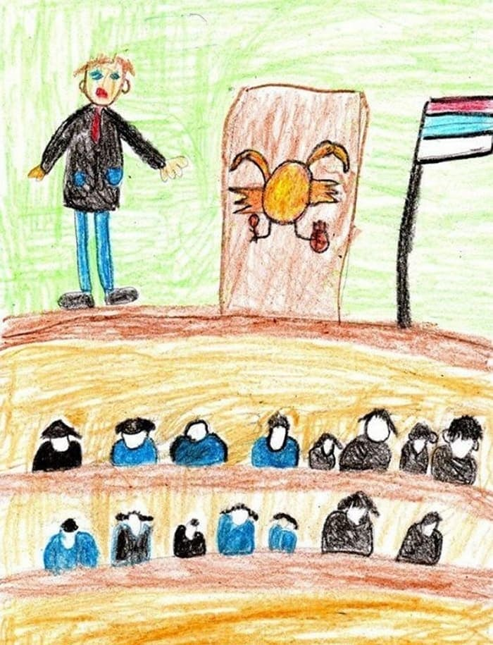 27 Funny Drawings of Putin By Russian Kids Will Make You LOL -27