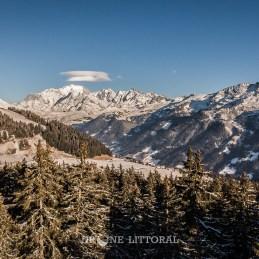 Nuages lenticulaires au dessus du Mont Blanc