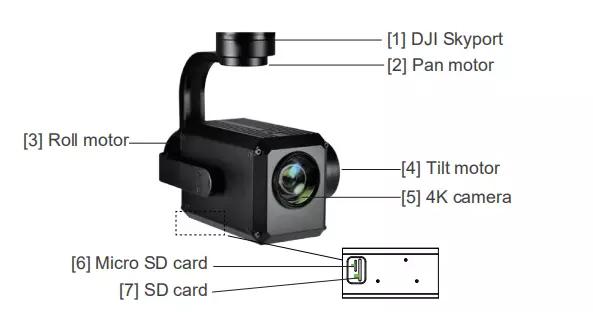 40x 4K FHD Gimbal Camera