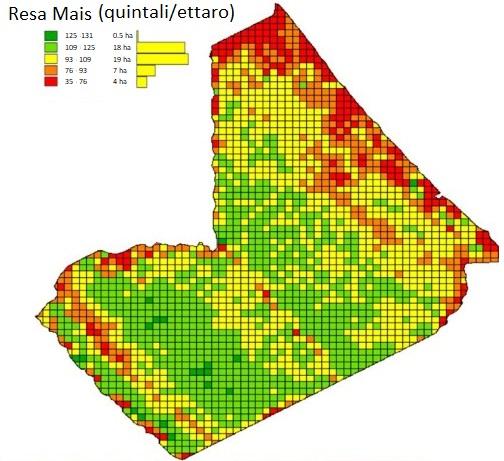 mappatura-produzione-mais Previsione della Resa Agricola con Droni e Satelliti
