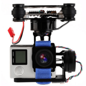 FPV 3 Axis CNC Metal Brushless Gimbal With Controller For DJI Phantom GoPro 3 4 Only(Without Camera)