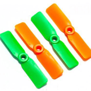 4045*2 Eliche 2 Pezzi CW + 2 Pezzi CCW Green and Orange