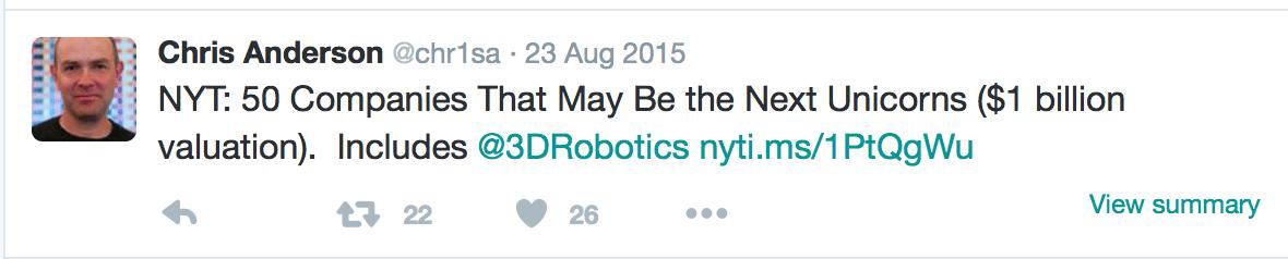 3D Robotics Failure to Launch and Unicorn Dreams