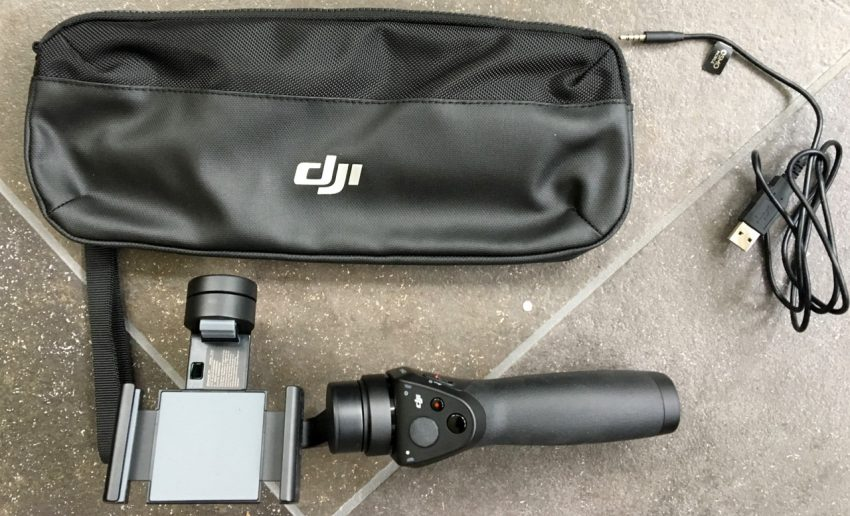 DJI Osmo Mobile, Case and Charging Cord