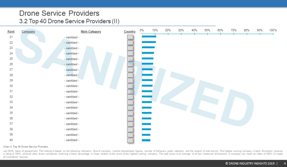 Drone Service Provider Ranking Report Sample 4