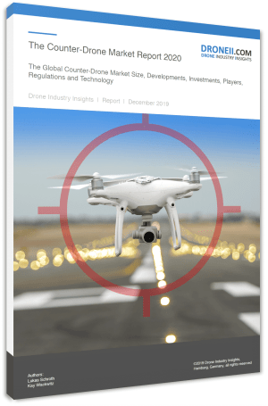 Counter-Drone Market Report Title Page Portrait 3D Shadow