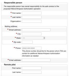 faa airspace authorization form