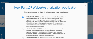 part 107 operational waiver