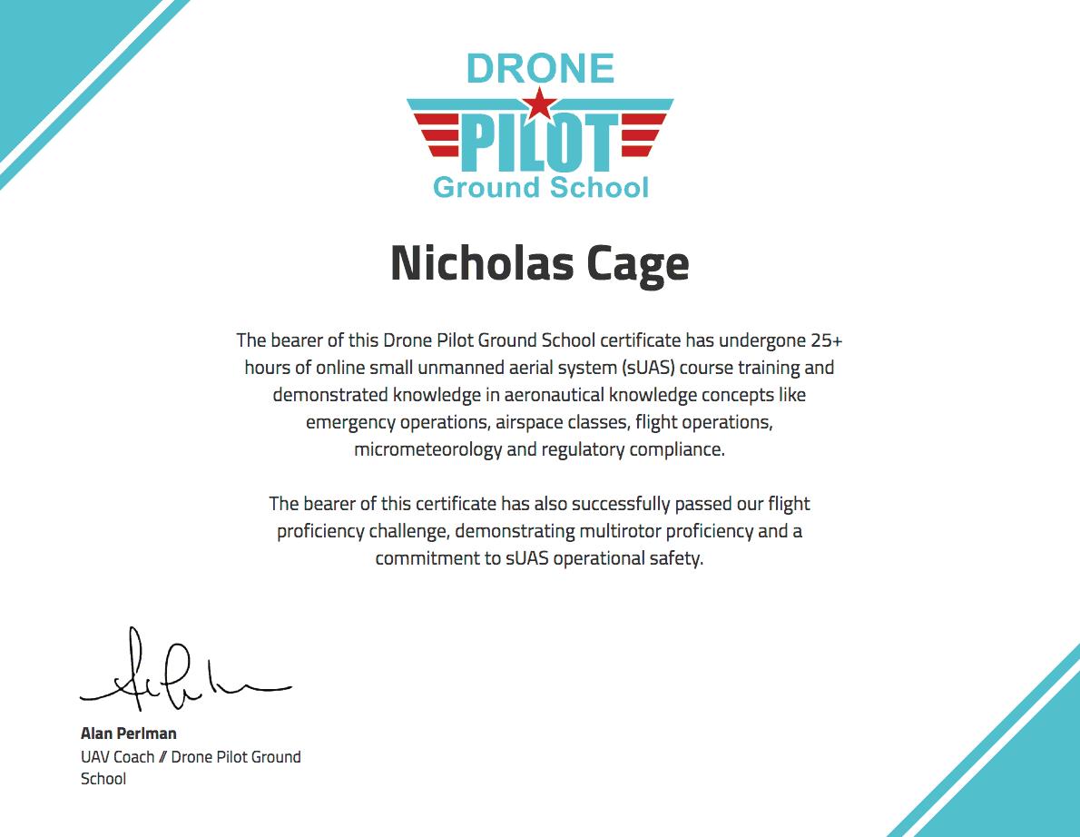 drone training certificate | Drone Pilot Ground School