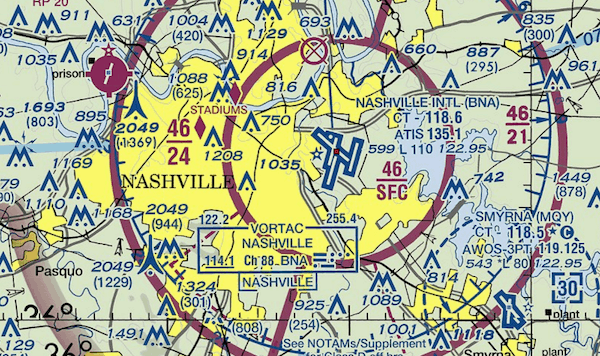 nashville location pin