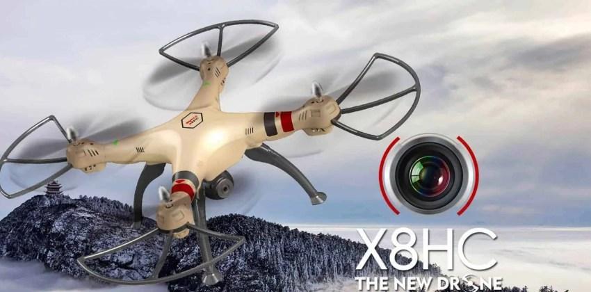 Syma X8HC y X8HW: Drones para GoPro con mantenimiento de altura