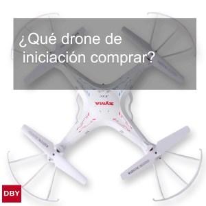 ¿Qué drone de iniciación comprar?