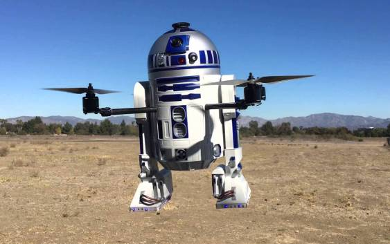 What do you get when you cross a Star Wars fan with a drone enthusiast?