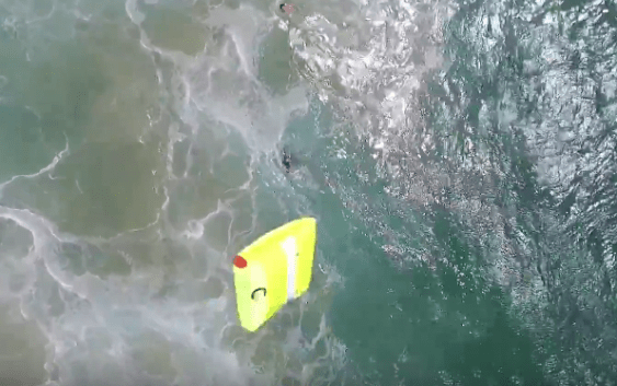 The world's first surf rescue – drone saves 2 struggling teenage swimmers