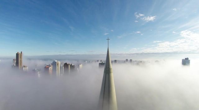 1st Prize - Category Places - Above the mist, Maringá, Paraná, Brazil by Ricardo Matiello
