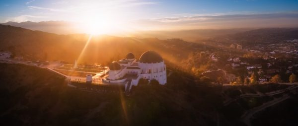 Griffith Observatory blinded by the light | Dronestagram