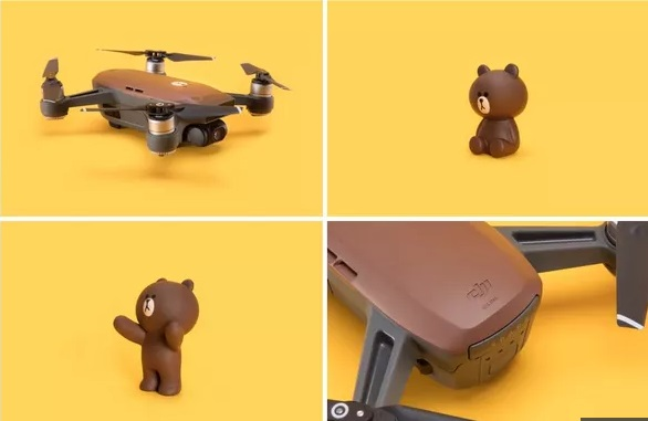 line friends and dji spark new look