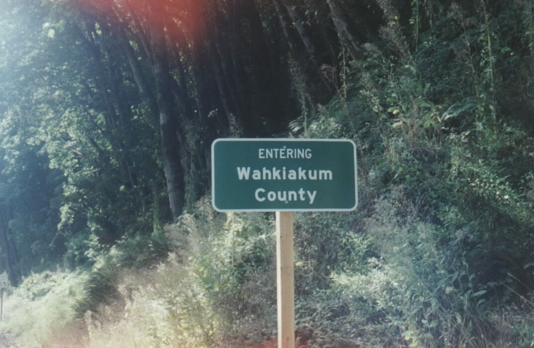 Just to say I was in Wahkiakum County, Robert Ashworth October 21, 2007