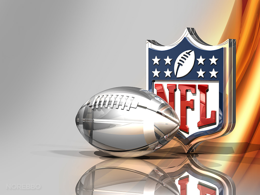 C_osett, Silver Football and NFL Logo Over Bronze Silk Background May 11, 2015