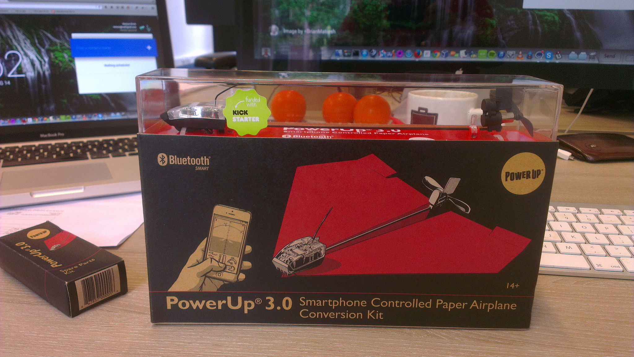 Awesome, my PowerUp smartphone controlled paper airplane conversion kit has arrived!, Remco Brink August 14, 2014