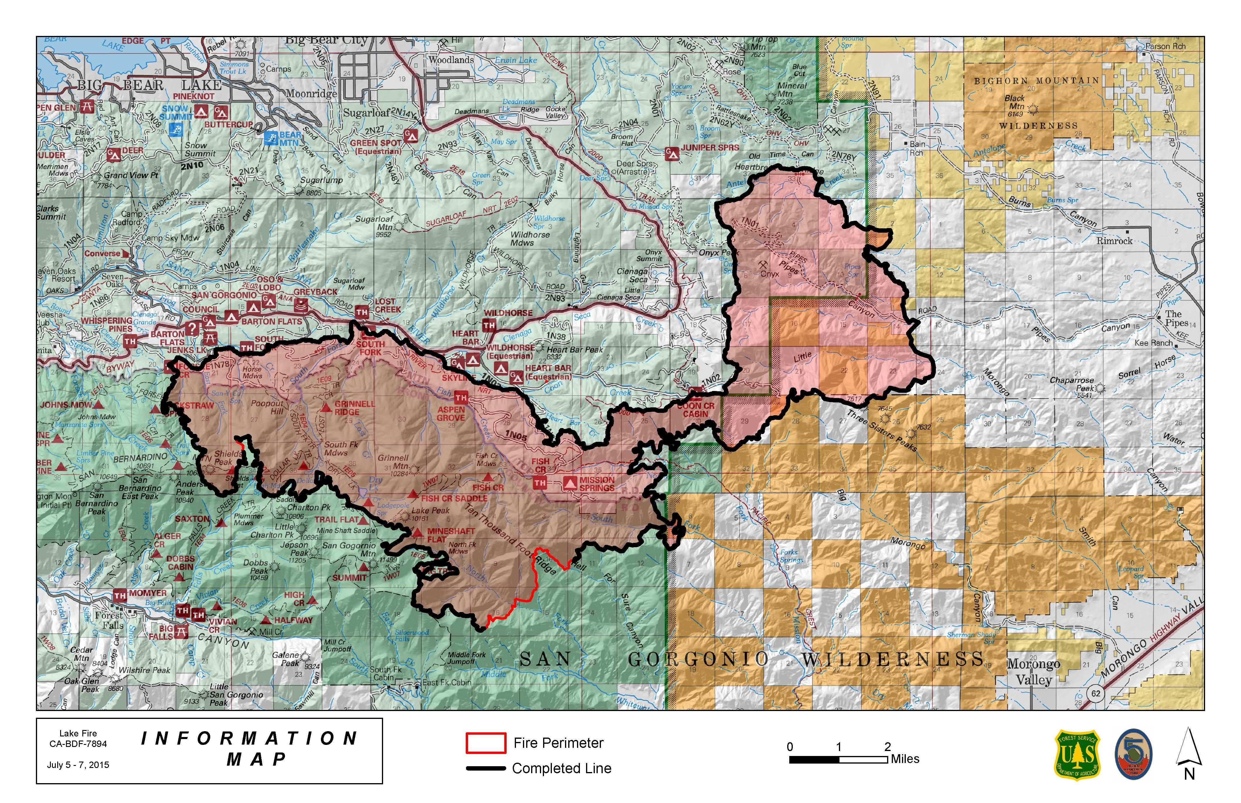 San Bernardino Mountains Lake Fire