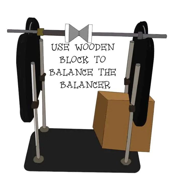Wooden balancer ( Balancing propellers )