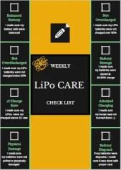 LiPo care checklist