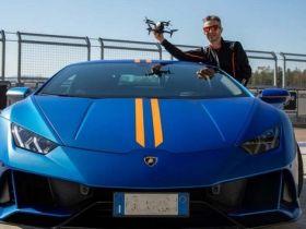 Drone DJI FPV sfida Lamborghini in rettilineo, chi vincera?