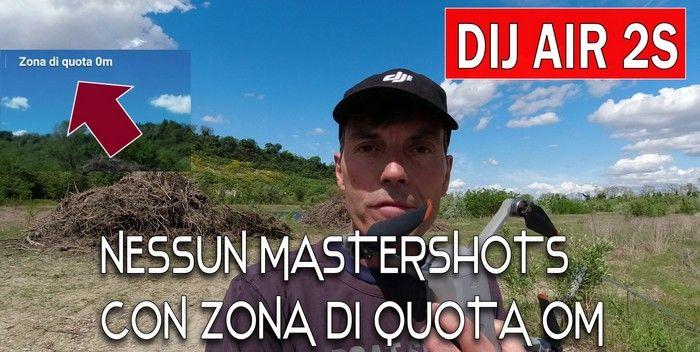 DJI AIR 2S, strani errori con il database FlySafe, in alcuni casi non esegue i MasterShots