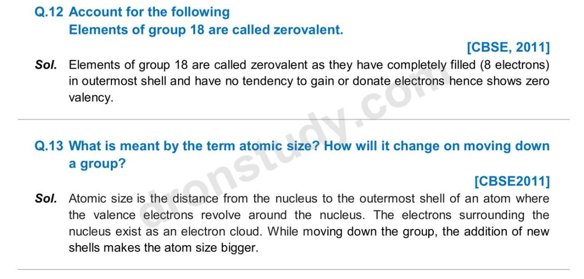 Previous Year Questions - Periodic Classification_07