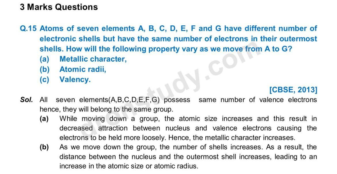Previous Year Questions - Periodic Classification_09