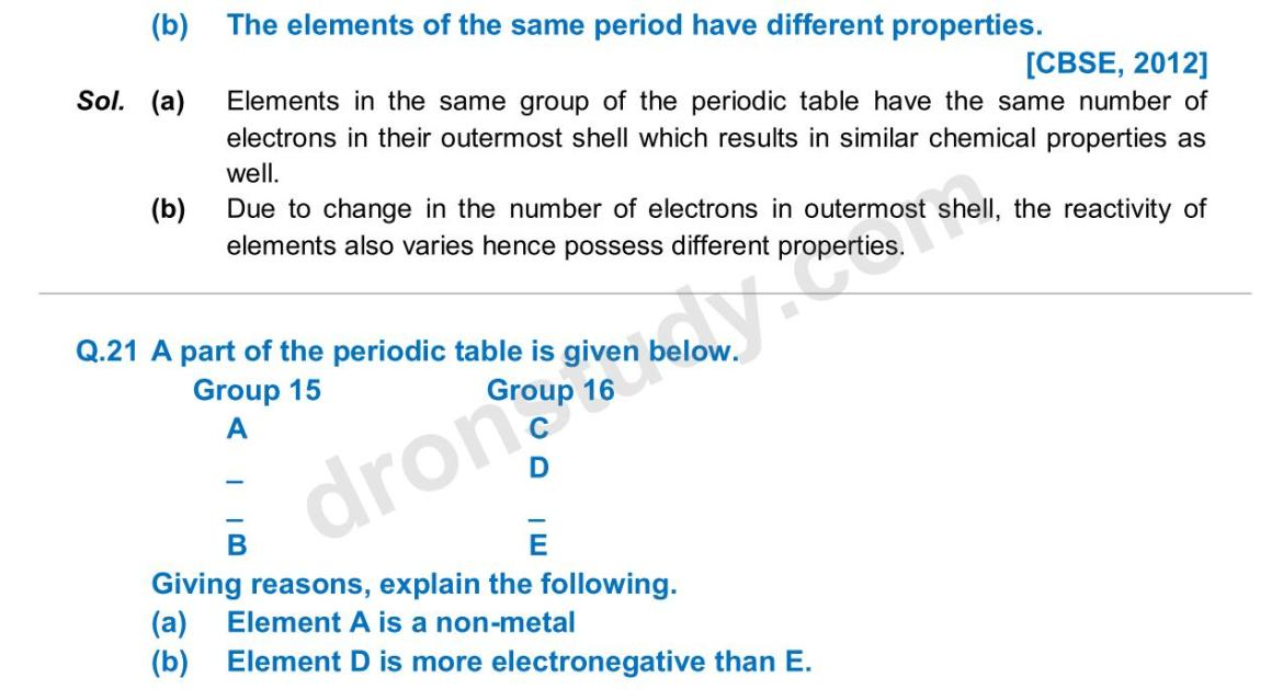 Previous Year Questions - Periodic Classification_14