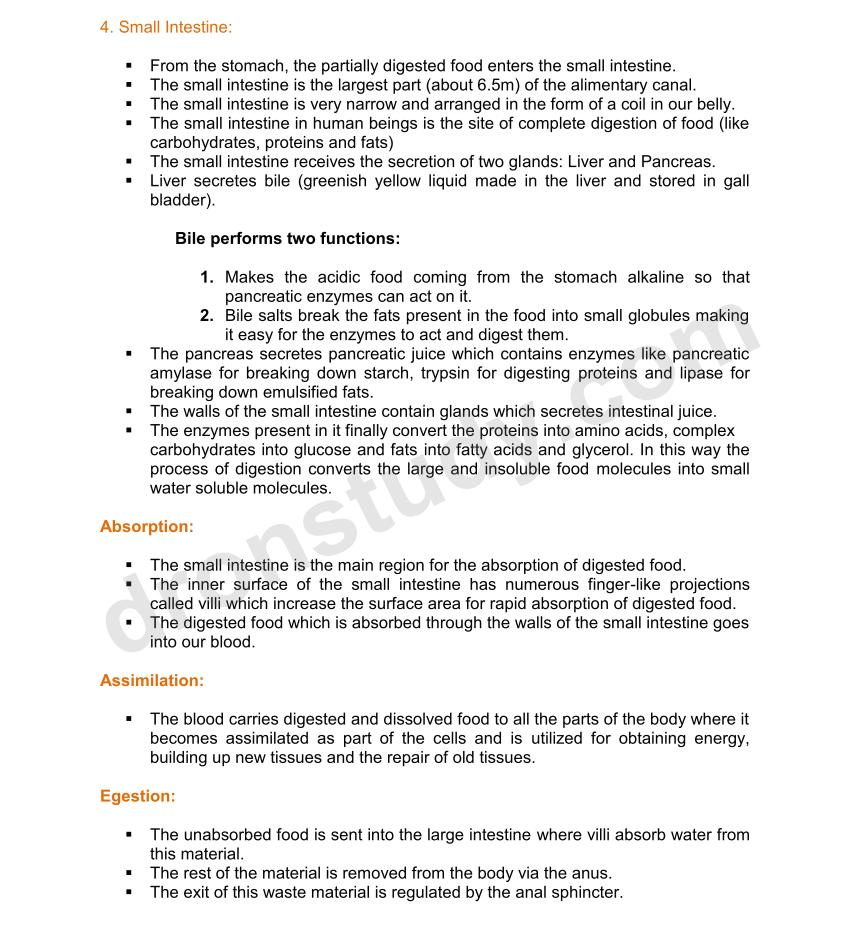 Chapter Notes: Life Processes | Class 10 Biology Notes