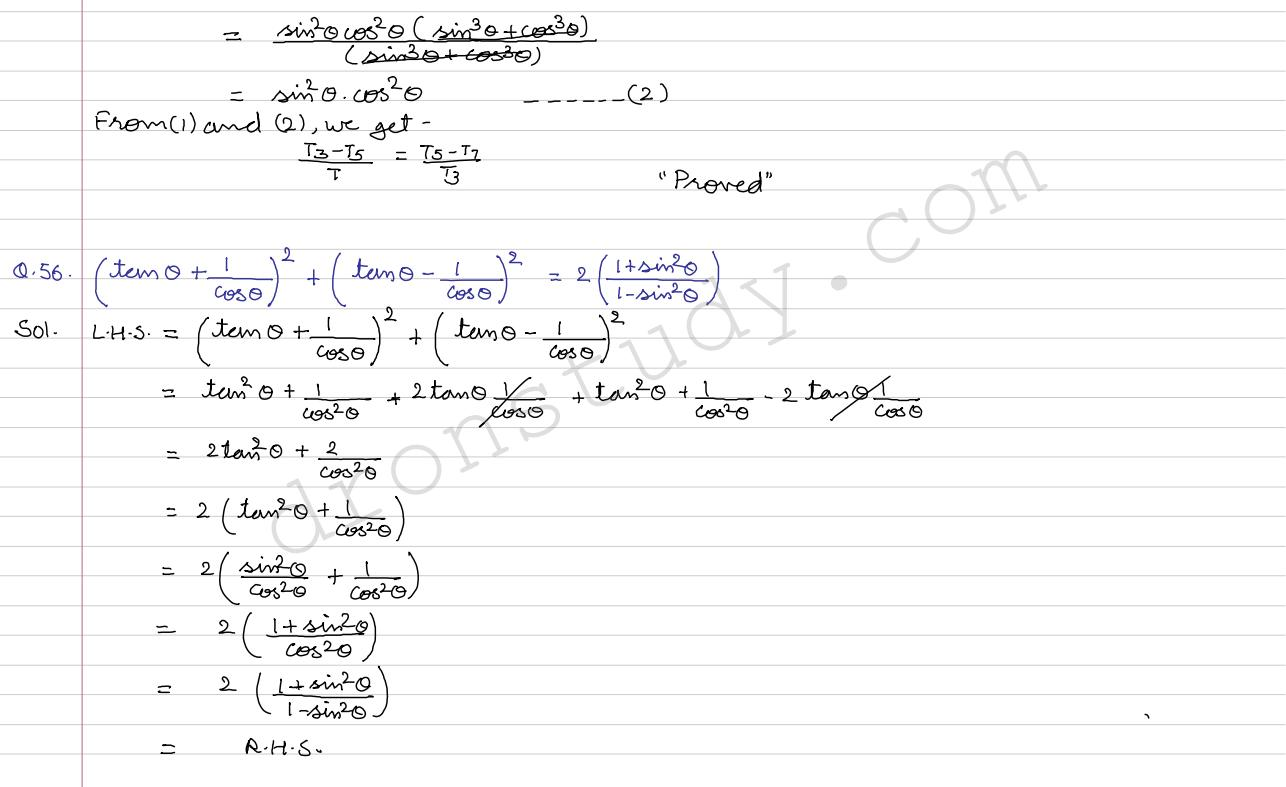 Trigonometric Identities Ex 6 1 Q 55 To Q 72 R Darma