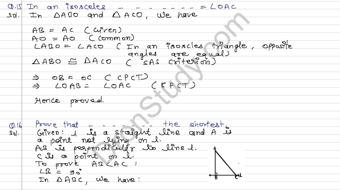 Congruence of Triangles and Inequalities in a Triangle ...