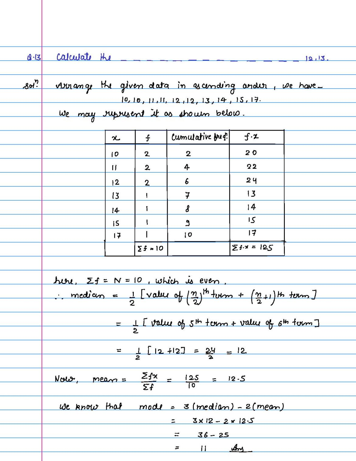 solution of FA of statistics by jitu-page-013