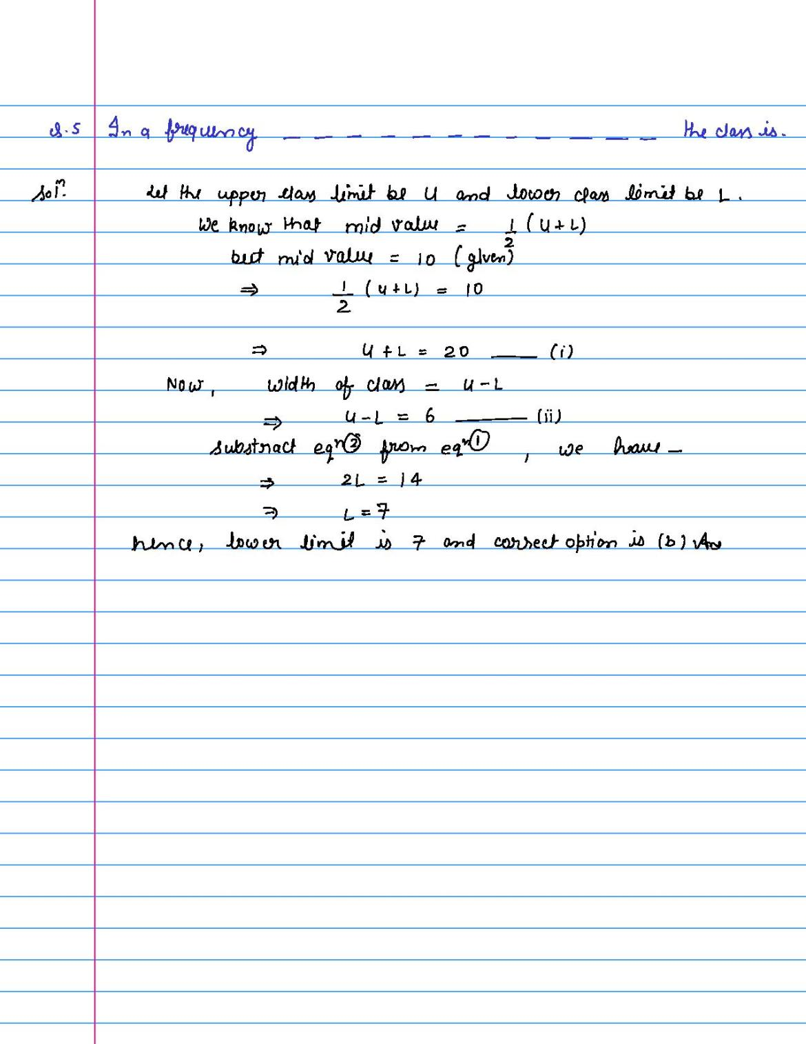 solution of MCQ questions of statistics of class 9th-page-005