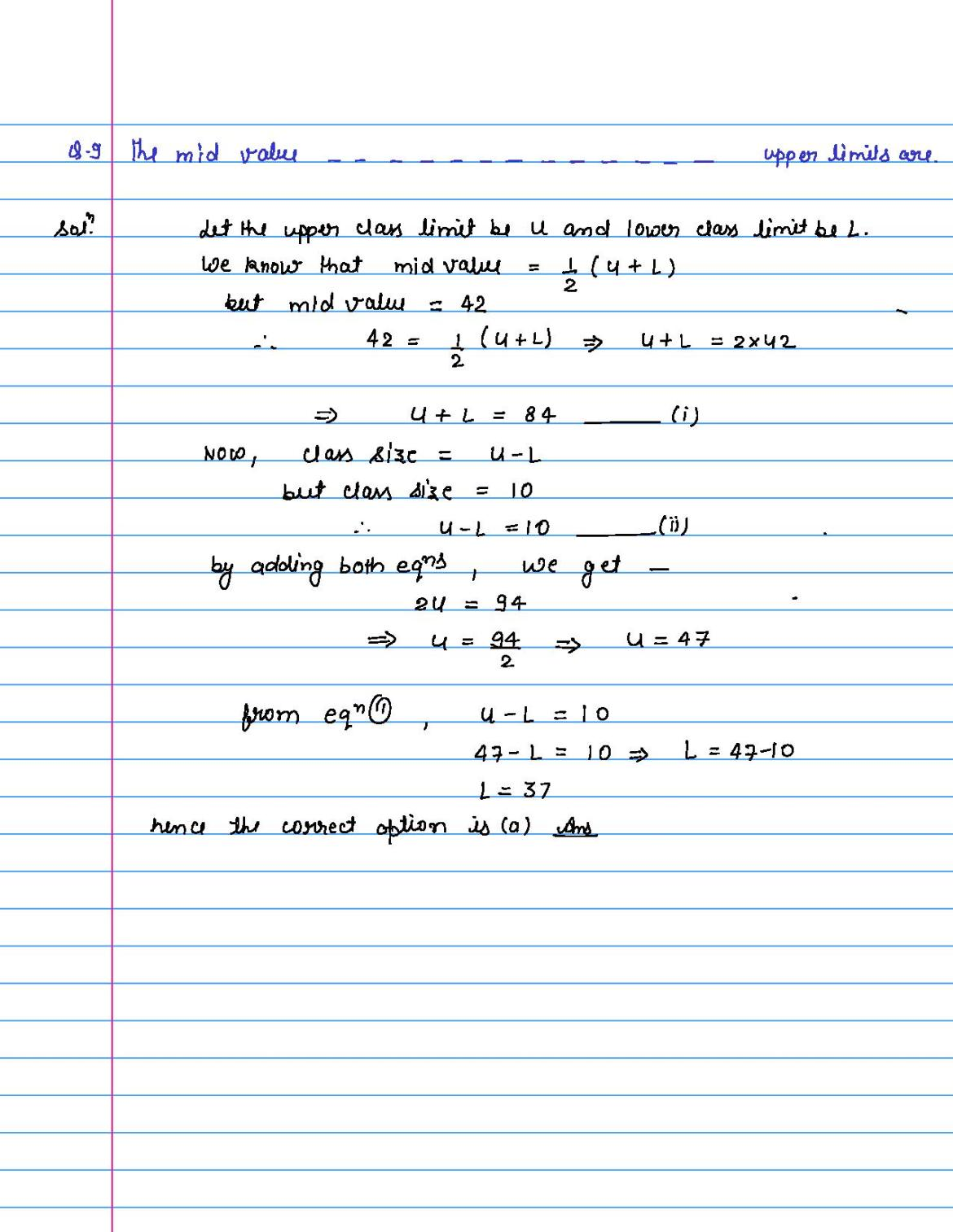 solution of MCQ questions of statistics of class 9th-page-009