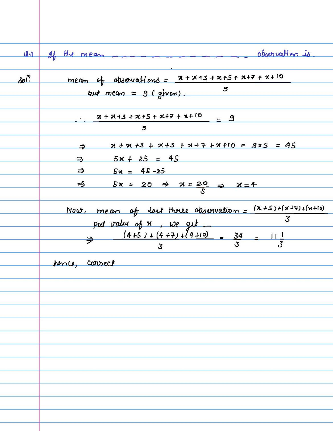solution of MCQ questions of statistics of class 9th-page-011
