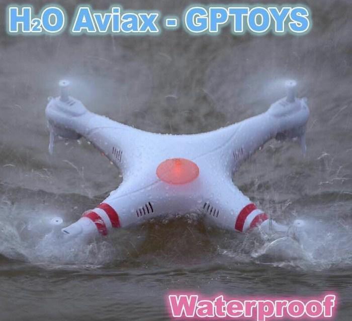 Video: GPtoys H2O Aviax – vodotěsná kvadkoptéra v akci