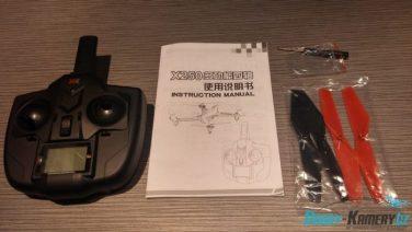 XK Alien X250 obsah balení mimo drona