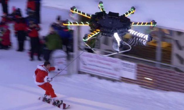 Casey Neistat předvádí droneboarding