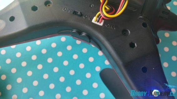 GoolRC T5G osvětlení zapojená kamera