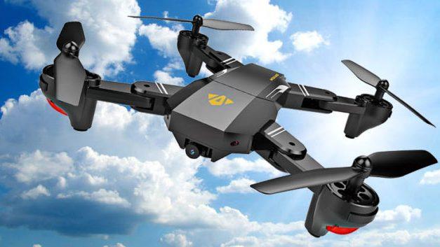 Dron Tianqu XS809w se třemi bateriemi v akci